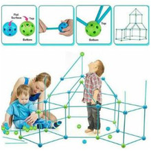 3d Play House Building Toys Fort Building Kit Fort Construction Set Castles Tunnels Tents Kit Diy Outdoor  For Boys Girls Christ