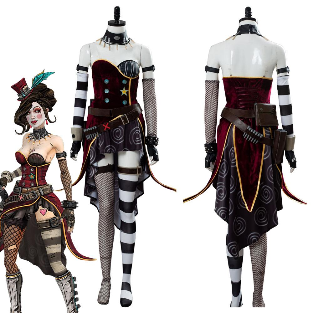 New Borderlands Tiny Tina Carnival Outfit Suit Cosplay Costume Custom Made