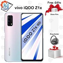 Original vivo iqoo z1x 6gb 64gb 5g telefone móvel 6.57 polegada snapdragon 765g octa-core 5000mah bateria 120hz 33w carregamento smartphone