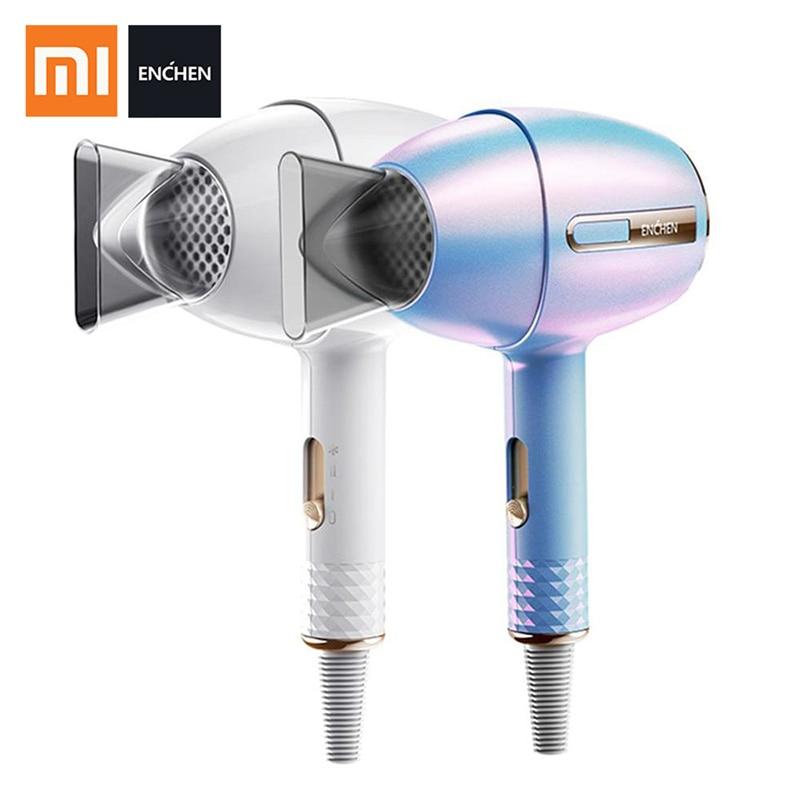Secador de Cabelo Xiaomi Mijia Enchen Profissional 1200 w Barbeiro Salão Estilo Ferramenta Anion Secador ar 3 Ajuste Velocidade 240 v