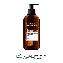 L'Oreal Paris Men Expert Barber Club Очищающий гель 3 в 1 для Бороды+ Лица+ Волос, с маслом кедрового дерева, 200 мл