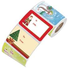 6 видов конструкций стикер на клейкой основе Рождественский