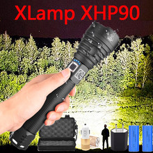 XHP70.2 XHP90 USB Rechargeable LED Flashlight XHP70 Powerful Torch super Waterproof Zoom Hunting Light Use 18650 or 26650 Battey(China)