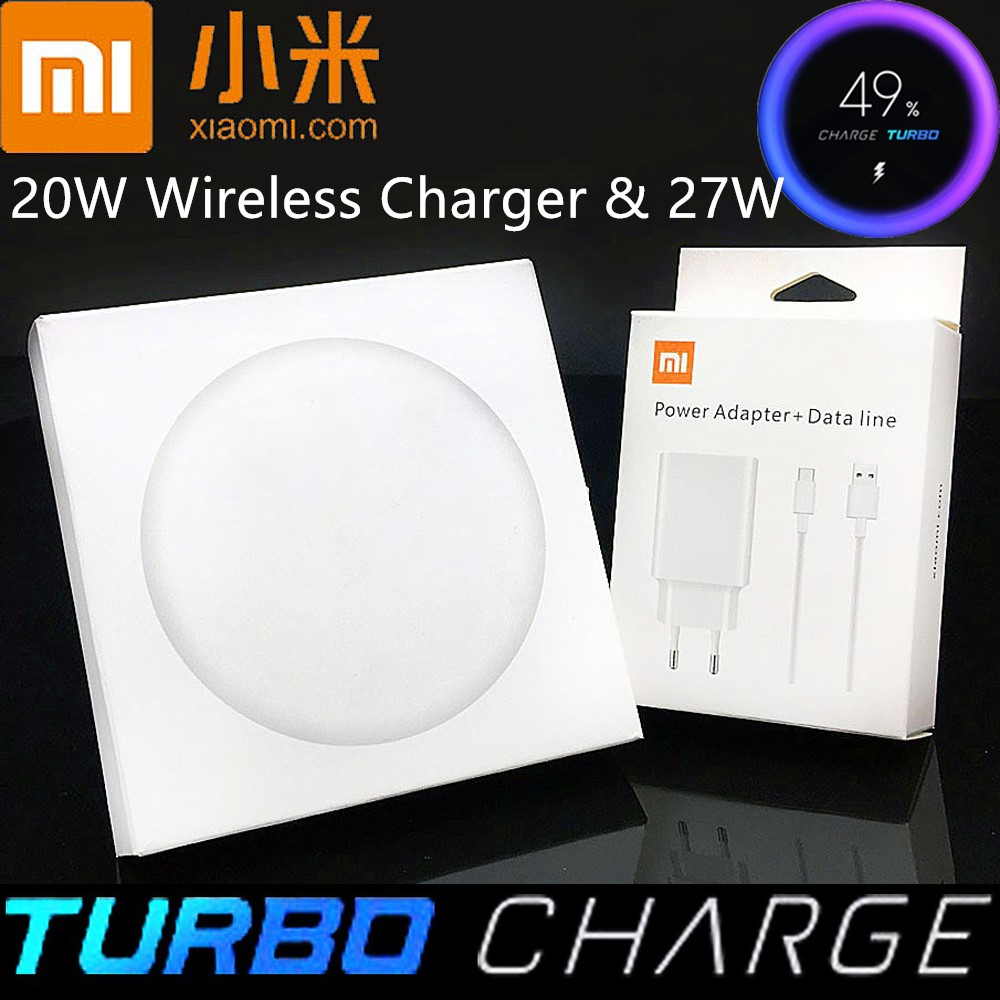 Original Xiaomi Qi wireless Charger 20w MAX & 27W For Mi 9 pro mix 2s 3 (10w) qi Epp COMPATIBLE Cellphone (5w) Multiple Safe