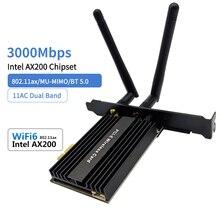 Desktop-Pcie Bluetooth Intel Ax200 6-Adapter Wifi Pci Express Pro-Card Dual-Band 3000mbps