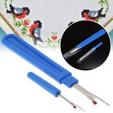 2pcs Plastic Handle Craft Thread Cutter Seam Ripper Stitch Unpicker Hand Tools Needles Arts Sewing Accessories Large & Small