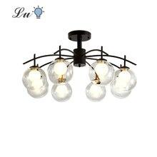 LED Molecule Pendant Lights Modern Simplicity Kitchen Glass Restaurant Hanging Lamp Living room Bedroom Study Lighting Fixtures