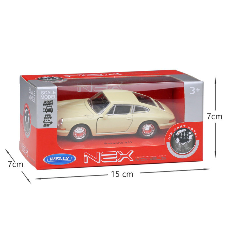 Купить с кэшбэком Welly 1:36 Original box 1964 911 Pull Back Car Diecast Car Model Toy Vehicle Car Model Models Kids Car