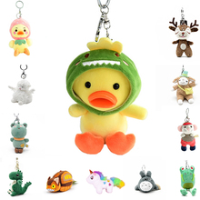 Key-Chain Plush-Toys Totoro-Bag Gifts Stuffed Animals Duck/dog-Peluches-Doll Kids