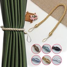 1Pc Handmade Weave Curtain Tieback  Curtain Holder Clip Buckle Rope Home Decorative Room Accessories Curtain Tie Backs