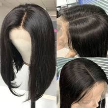 4x4 Closure Wig Straight Human Hair Wigs 180 Density Short Bob Wig With Highlight For Brazilian Wig Straight Short Bob Wigs