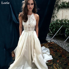 Lorie A-Line Wedding Dresses Halter Neck Boho Bridal Gowns 2020 Vestidos Custom Made