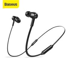 Baseus S06 Bluetooth kulaklık manyetik kablosuz kulaklıklar boyun bandı kulakiçi spor Stereo kulaklık telefon Auriculares Mic ile