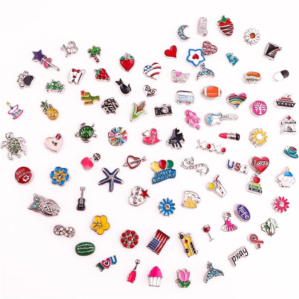 200 шт./лот Смешанные случайные продажи Плавающие Подвески подходят для стекла живая память Плавающие Подвески-медальоны ювелирные изделия ...