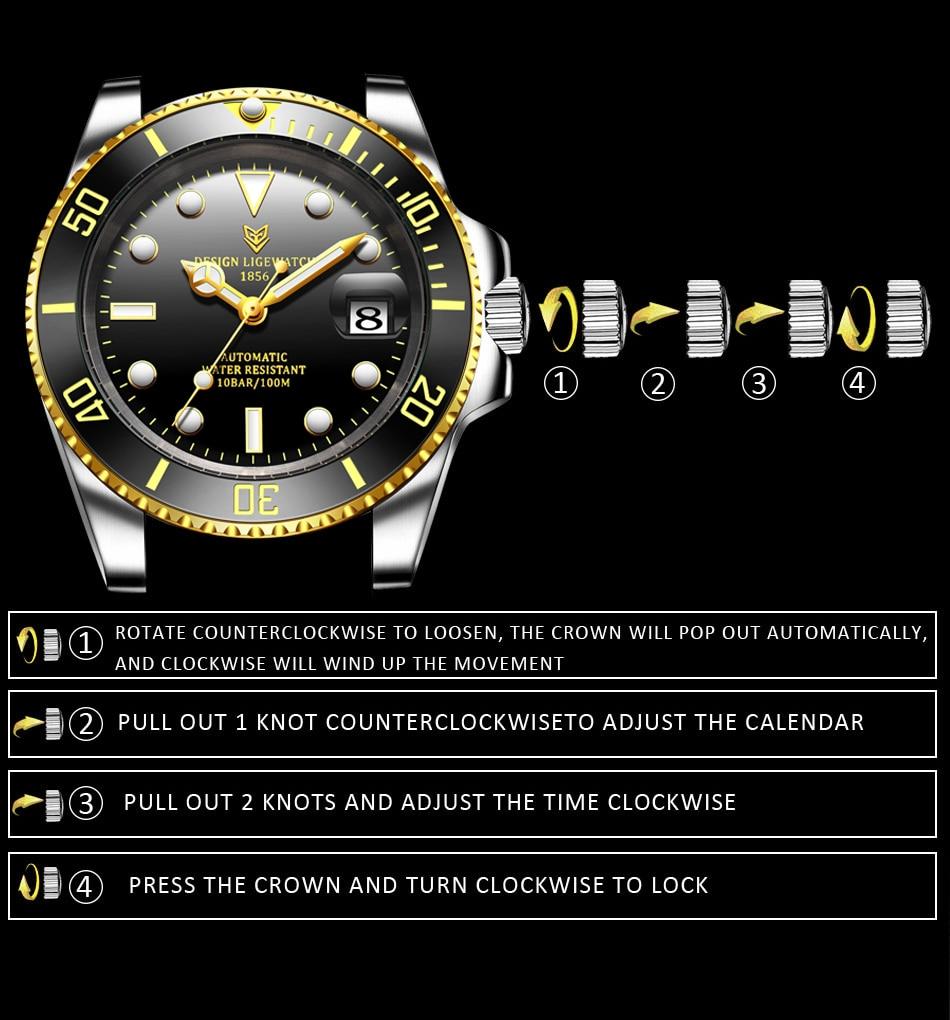 moda negócios à prova dwaterproof água relógios