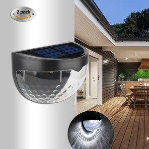 Amazon Горячий стиль солнечный светильник водонепроницаемый открытый полукруглый забор светильник 6 светодиодный настенный светильник на со...