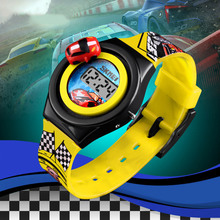 2020 New fashion Kids cartoon 3D car racing adjustable toy sport watch gift for children young man