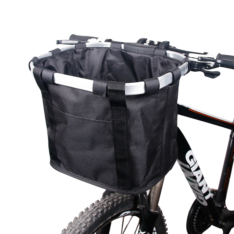 Bicycle Basket Handlebar Pannier Cycling Carryings Holder Bike Riding Pouch Cycle Biking Front Baggage Bag Pets Cat Seat Dog