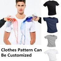 Водонепроницаемая анти-Грязная футболка креативные гидрофобные быстросохнущие футболки Топ футболки с короткими рукавами большой размер ...