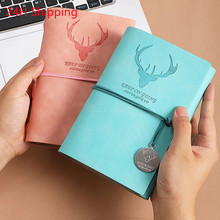 2021 A6 Retro Notebook Diary Notepad Literature Leather Stationery Gifts Traveler Journal Planners Office School Supplies ins