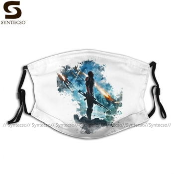 Mass Effect Mouth Face Mask Facial with 2 Filters Adult Fashion Nice