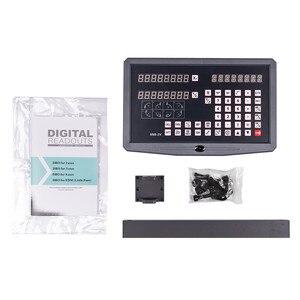 Image 2 - DRO 2 Achsen digital anzeige mit 2 stücke 50 1020mm linearen skala/linear encoder / linear herrscher für fräsen drehmaschine maschine