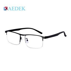 Image 5 - KAEDEK בציר קריאת משקפיים נשים גברים רטרו סגסוגת מרשם משקפי מלבן עסקים רוחק פרסביופיה משקפיים