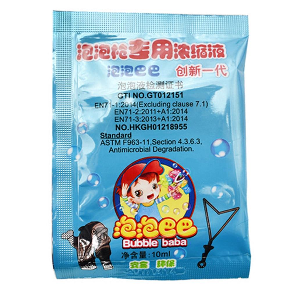 10 PCS 10ML Bubble Liquid Soap Bubble Liquid Bubble Toy Replenisher AN88