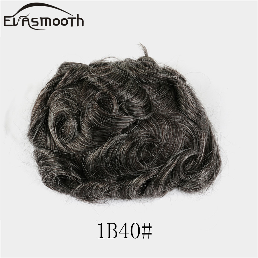Mens Toupee Full Pu Wig Super Thin Skin Toupee Remy Indian Hair Replacement System Natural Human Wigs Men Hairpieces Toupee