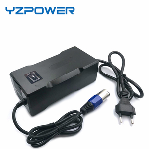 Image 2 - YZPOWER CE ROHS 54.6V 4A Smart Lithium Battery Charger For 13S 48V Lipo Li ion Battery Electric Bike Power Tool With Cooling Fan