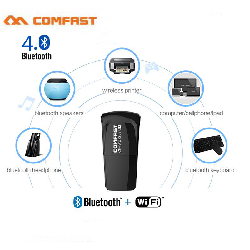 Comfast Bluetooth4.0 +WIFI 150Mbps Wifi Dongle RTL8723BU Chipset 802.11n Wifi Bluetooth Adapter
