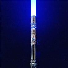 CIELTAN – sabre Laser RGB, Flash en cas de choc, lame de duel, 12 couleurs changeantes, 6 ensembles, Soundfront, lourd, jouets