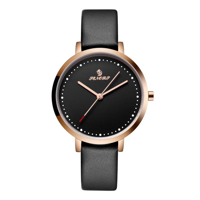 Senors Woman's Watch Simple Quartz Sport Leather Band