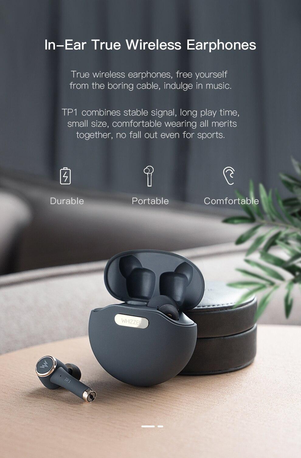 WHIZZER TP1S TWS Wireless Bluetooth Earphone 5