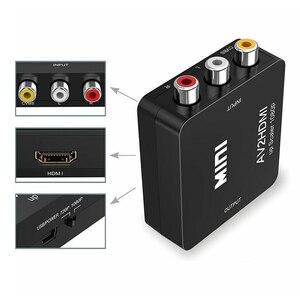 Image 5 - AV Adapter Composite Mini 720P AV HDMI 1080P Für HDMI CVBS 3RCA HDTV Konverter RCA ZU HDMI Konverter audio Video Kabel
