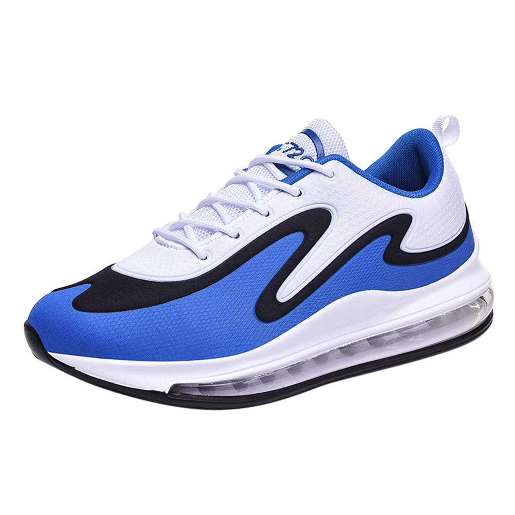 TIFENNY Mens Fashion Mesh Breathable Soft Bottom Shoes Lace Up Lightweight Sport Running Shoes Casual Sneakers