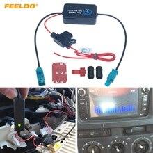 FEELDO 1 компл. 12 В Автомобильная Радио Антенна Усилитель сигнала Усилитель для автомобиля с FAKRA II разъем# AM1051