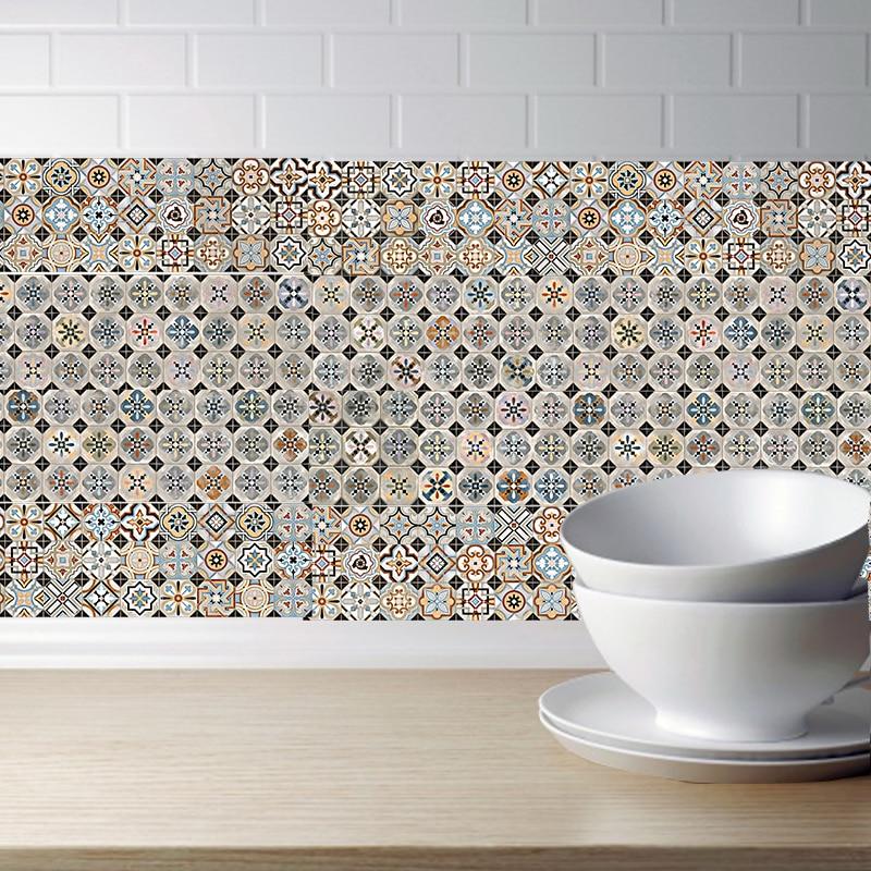 Best Discount #8b9e3 - Retro Tile Stickers Bathroom Kitchen ...
