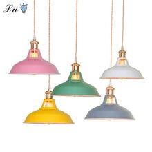 Color de la industria lámparas colgantes retro dormitorio lámpara colgante de cocina luminaria suspensión moderno de Casa de luz decorativa