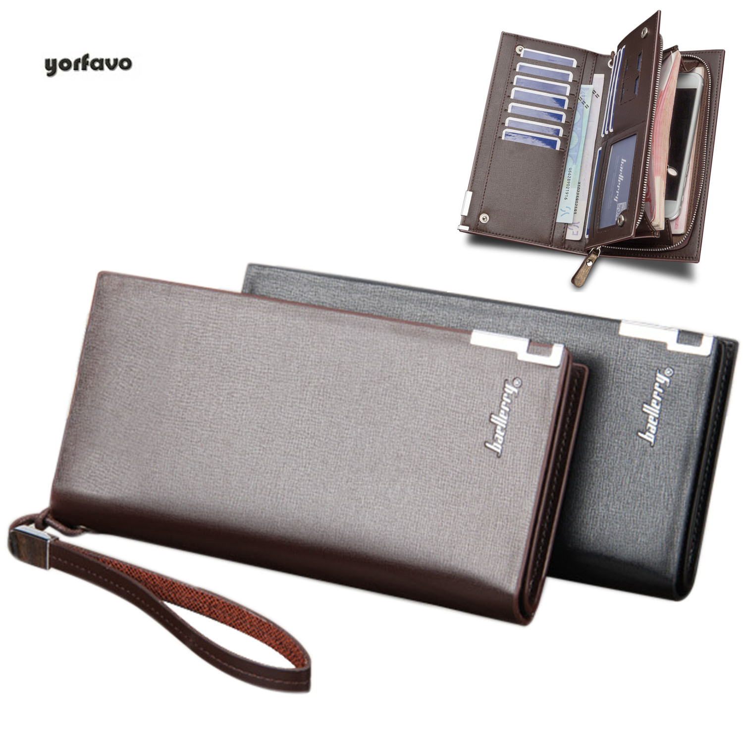 US $11.17 |New Fashion Men Wallets Long Style Multi functional wallet Purse Fresh PU leather Male Clutch Card Holder Purse Men Coin Purse on