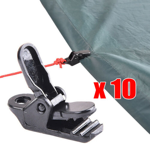 10Pcs tent canopy clip clamp tarp outdoor camp hike kit awning canvas anchor gripper snap jaw grip Caravan trap Tighten tool