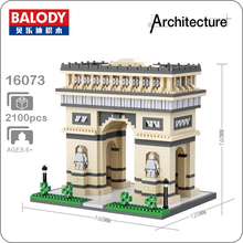 Balody 16073 World Famous Architecture Triumphal Arch Model Micro DIY Diamond Mini Building Small Blocks 3D Assembly Toy no Box