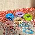 Новый корейский художественный неправильные геометрические Красочный прозрачный Кристалл Стразы из акрила, кольцо для женщин, ювелирные и...