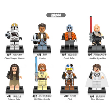 X0144  Figure Zander Baba Mon Mothma Obi Wan Kenobi Anakin Leia Clone Trooper Cunner Collection Toy Building Blocks For Children