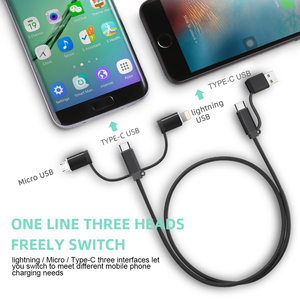 Image 5 - Cable USB 5A 4 en 1 para teléfono móvil, Cable cargador Micro USB tipo C para iPhone 12 Pro XR XS Max X Huawei, Cable de carga rápida de datos