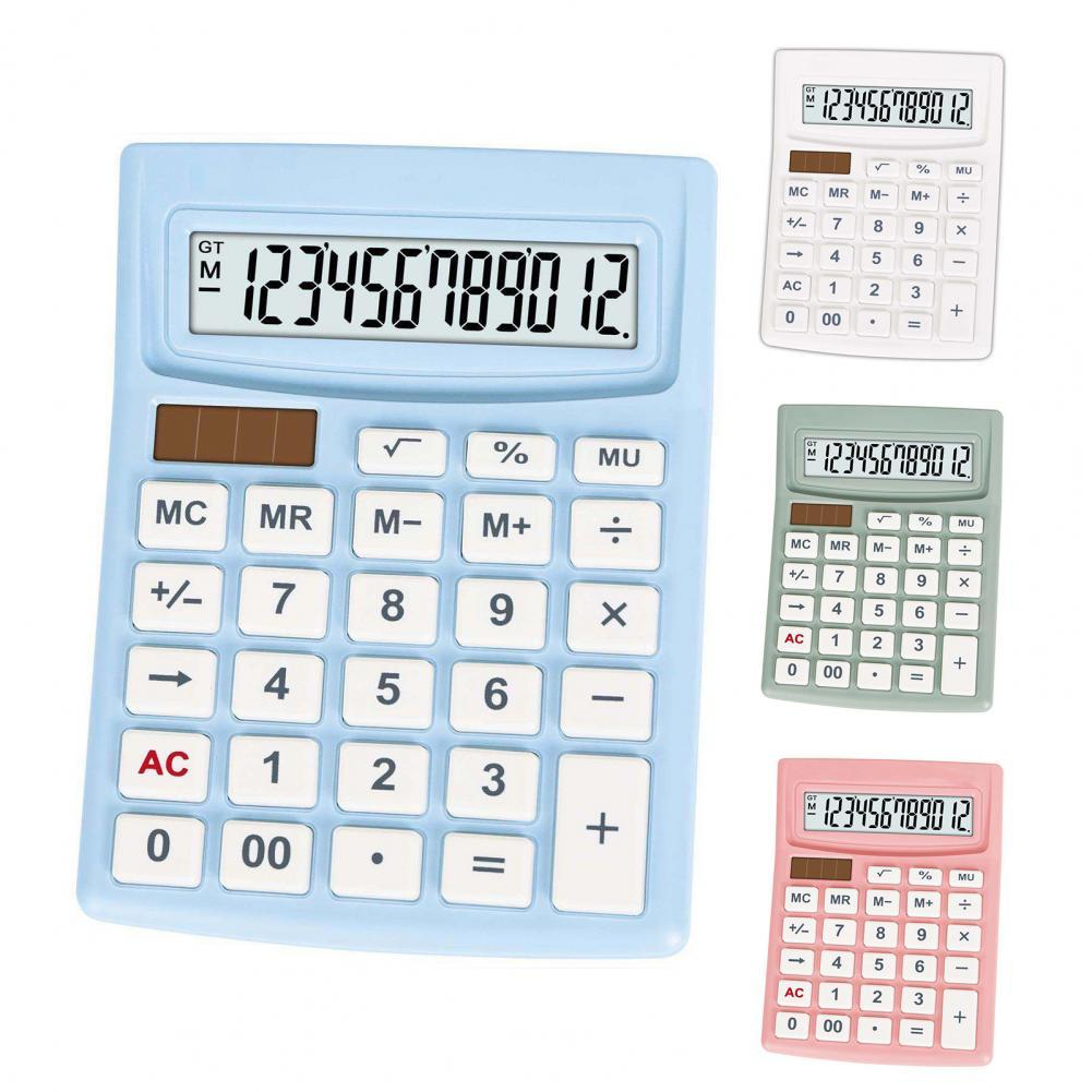Calculator LCD Display Large Button ABS Solar Digit Handheld Calculator for Home