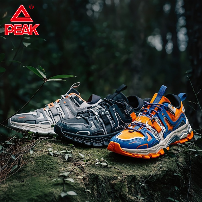 PEAK TAICHI Explorer Men Sneakers Retro Fashion Rebound Outdoor Casual Shoes Non-slip Wearable Youth Street Walking Shoes