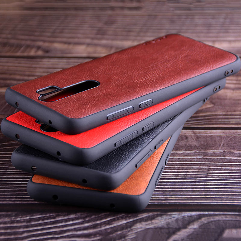 luxury Vintage Leather Skin Capa With Slot Phone Cover for Xiaomi Redmi note 8 case 4