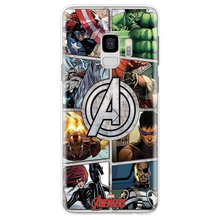 For Samsung galaxy s9 7 8 10 Plus A8 case Marvel Avengers Comics Case For Samsung Galaxy S7 Plus J7 5 A7 Note 7 8 silicone cases цена