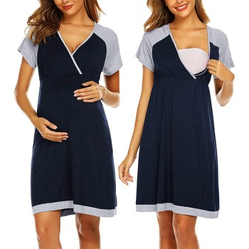 Clothes For Pregnant Women | Short Sleeve Maternity Dresses 1